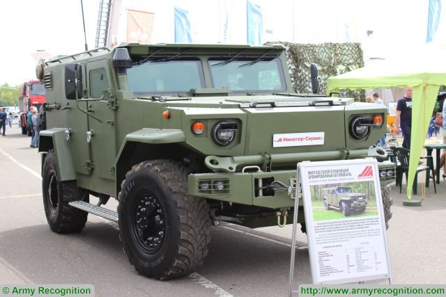 Belarus Minotor-Service company has developed the Vitim armoured car that can be used as a chassis for various systems. Vitim was demonstrated at the MILEX 2017 exhibition held from May 20-22 in Minsk.