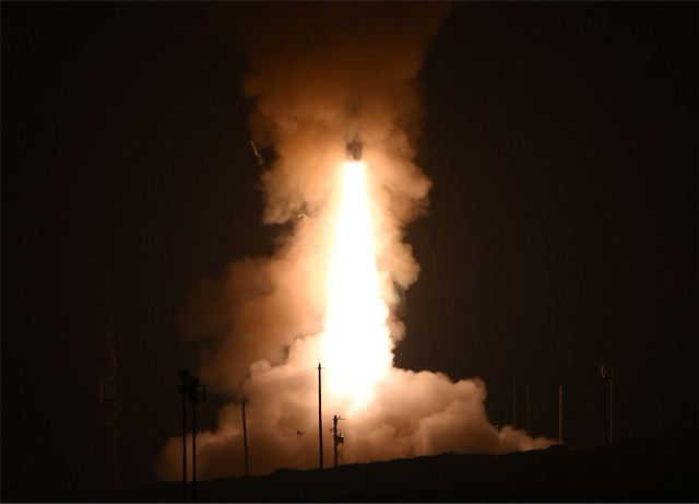 A team of U.S. Air Force Global Strike Command Airmen from the 341st Missile Wing at Malmstrom Air Force Base, Montana, launched an unarmed Minuteman III intercontinental ballistic missile equipped with a single test reentry vehicle May 3, 2017, at 12:02 a.m. Pacific Daylight Time from Vandenberg AFB, California.