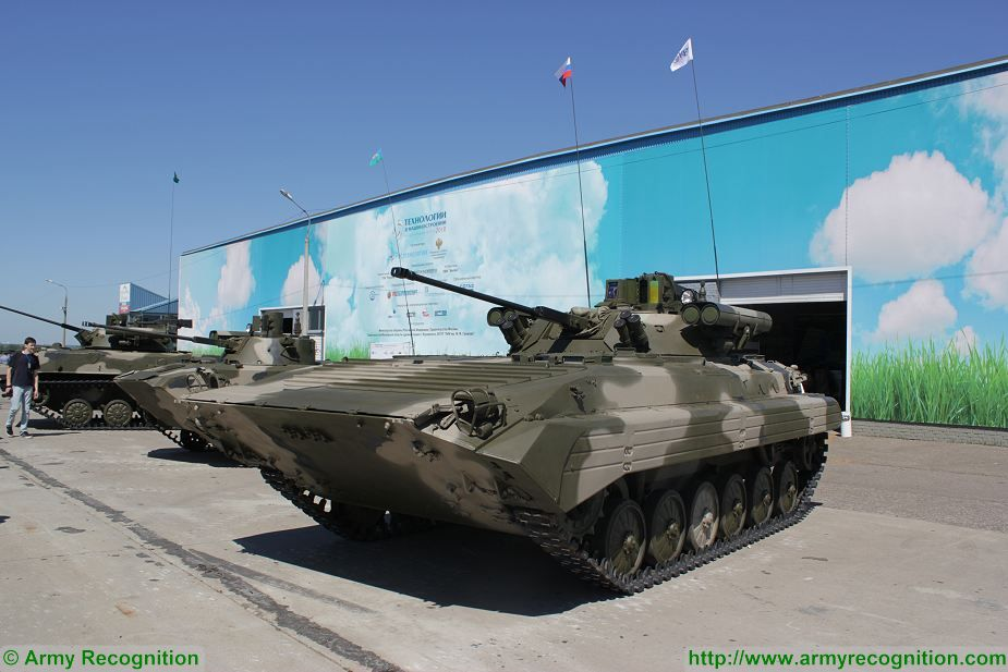 Russian BMP 2 and BMD 2 IFV upgraded with new Berezhok weapon station turret 925 002