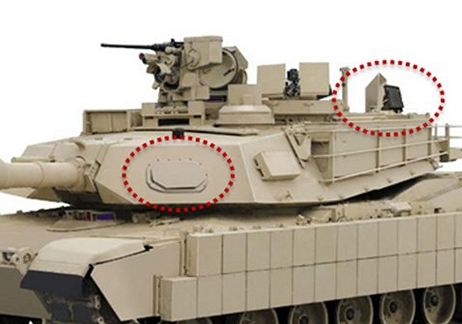 US Army M1A2 Sep V2 MBT tanks fitted with Israeli made Rafael Trophy active protection system against missile and rocket 925 001
