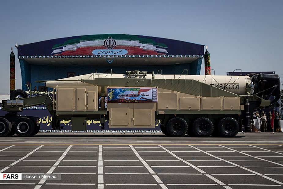 Iran New Khorramshahr ballistic missile unveiled during military parade in Tehran 925 001