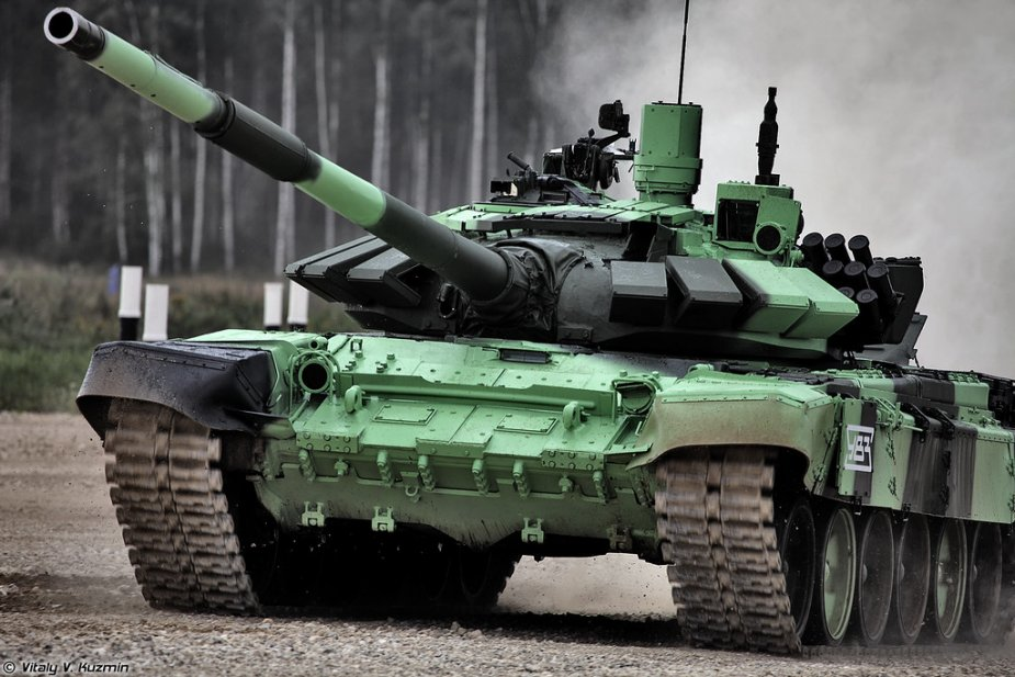 T-72B3M tanks engaged in motorized infantry drills of Southern district