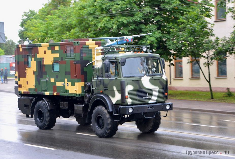 Busel MB on MAZ 5316 4x4 military truck at Belarus military parade July 3 2018 925 001