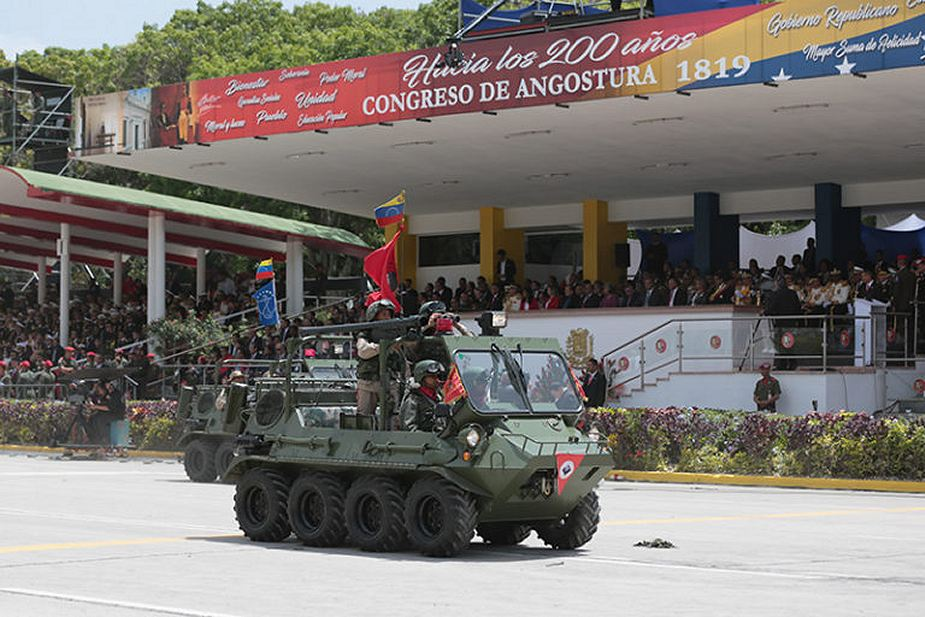 Lynx 8x8 amphibious all terrain vehicle at Military Parade Venezuela Independence Day 2018 925 001