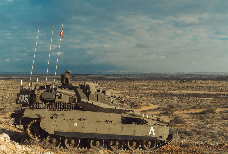 New Israeli made Merkava Mk4 Barak tank used in guerrilla warfare 925 001