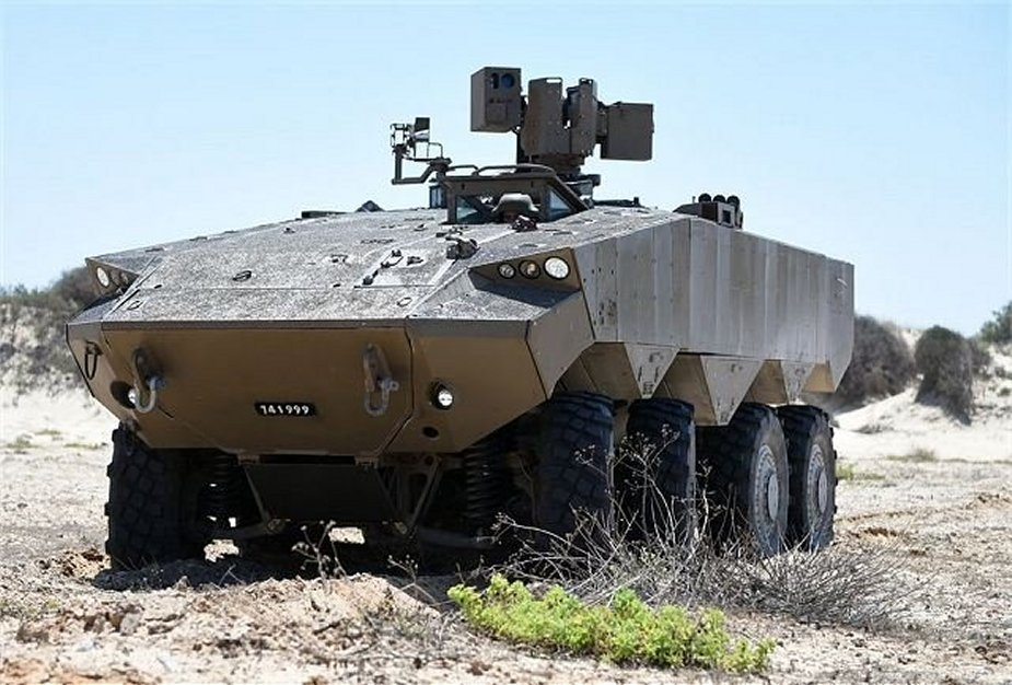 Eitan first wheeled APC to enter service in Israel Defense Force