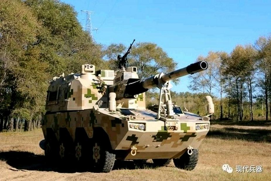 China Defense industry unveils new SH11 155mm 8x8 self propelled howitzer 925 001
