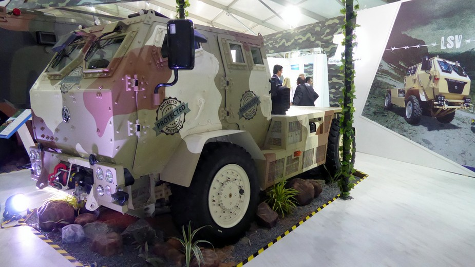 Ashok Leyland unveils LSV 4x4 armoured vehicle