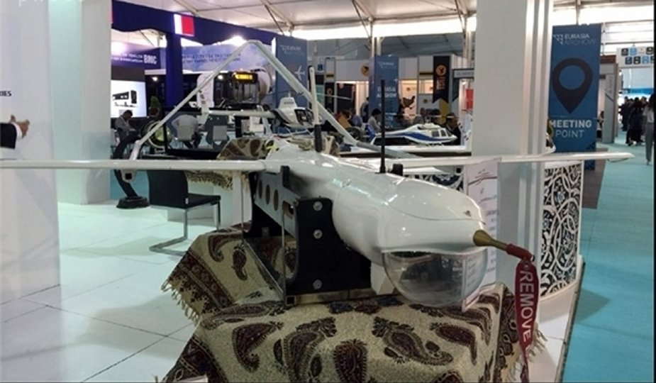 Iran displays two reconnaissance drones at Eurasia 2018 Turkey