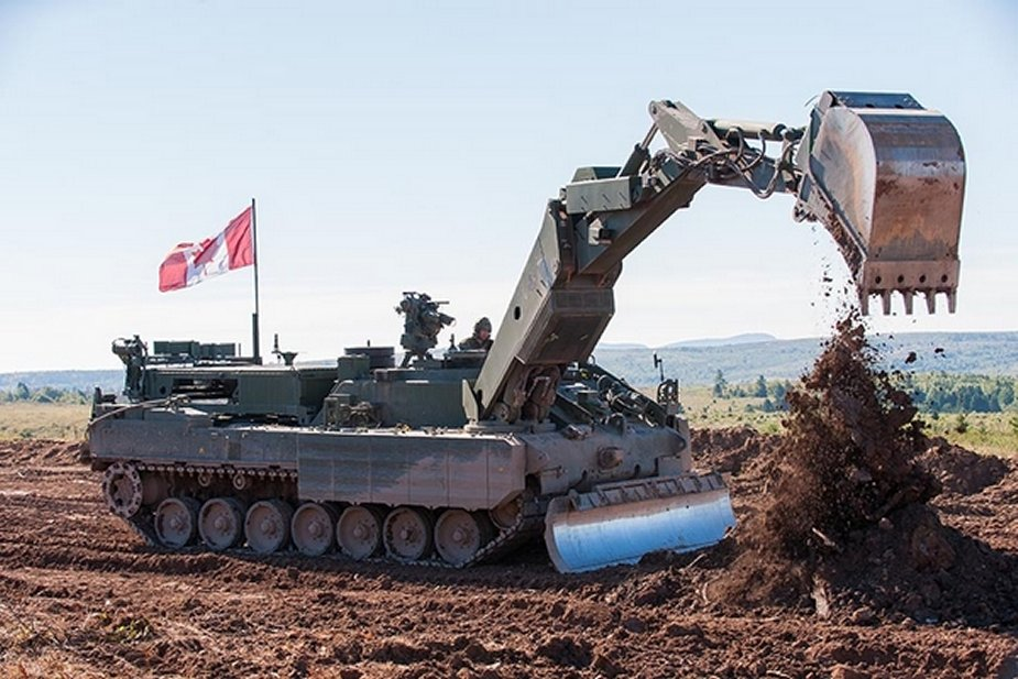 Leopard 2 Armored Engineer Vehicles replace Leo 1 Badgers in Canadian army