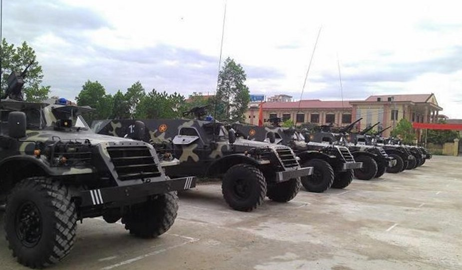 Vietnamese Army developed BTR 152 armored vehicle medevac variant 001