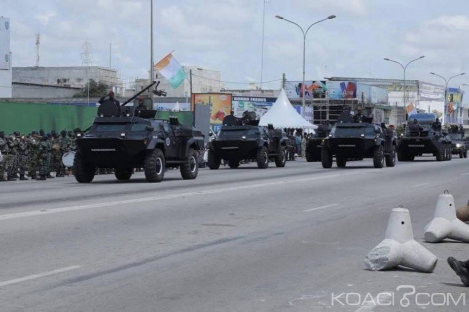 Ivory Coast demonstrates Belarusian made Kaiman armored cars