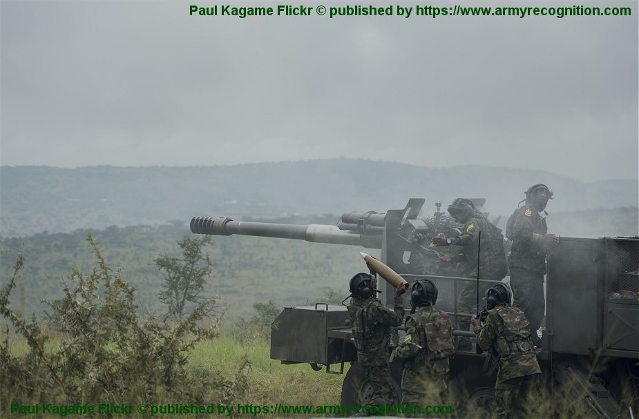 Chinese CS SH1 122mm howitzer in service with Rwandan Rwanda army defence forces 925 001