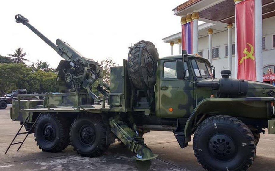 Laos Unveils Ural-mounted D-30 122mm Wheeled Howitzer | weapons
