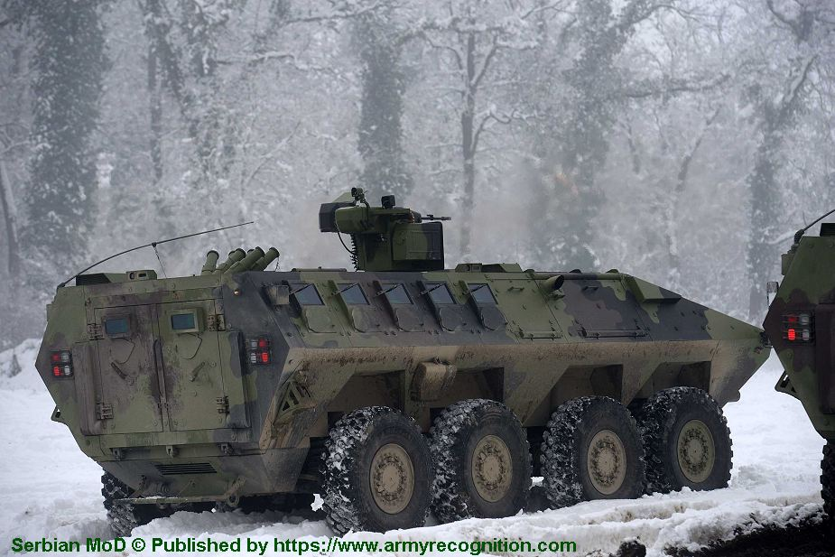 Lazar 3 8x8 armored APC enters in service with Serbian army 925 001