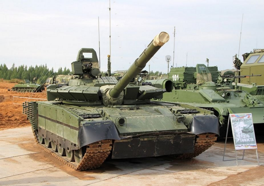 Russian T-80BVM tanks able to fire depleted uranium shells