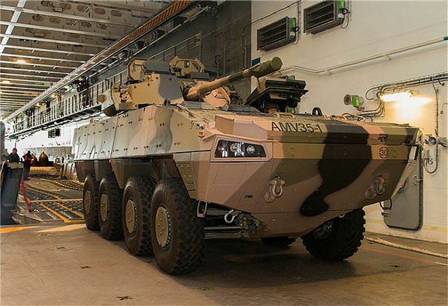 Australia technology transfer for AMV35 8x8 armored vehicle