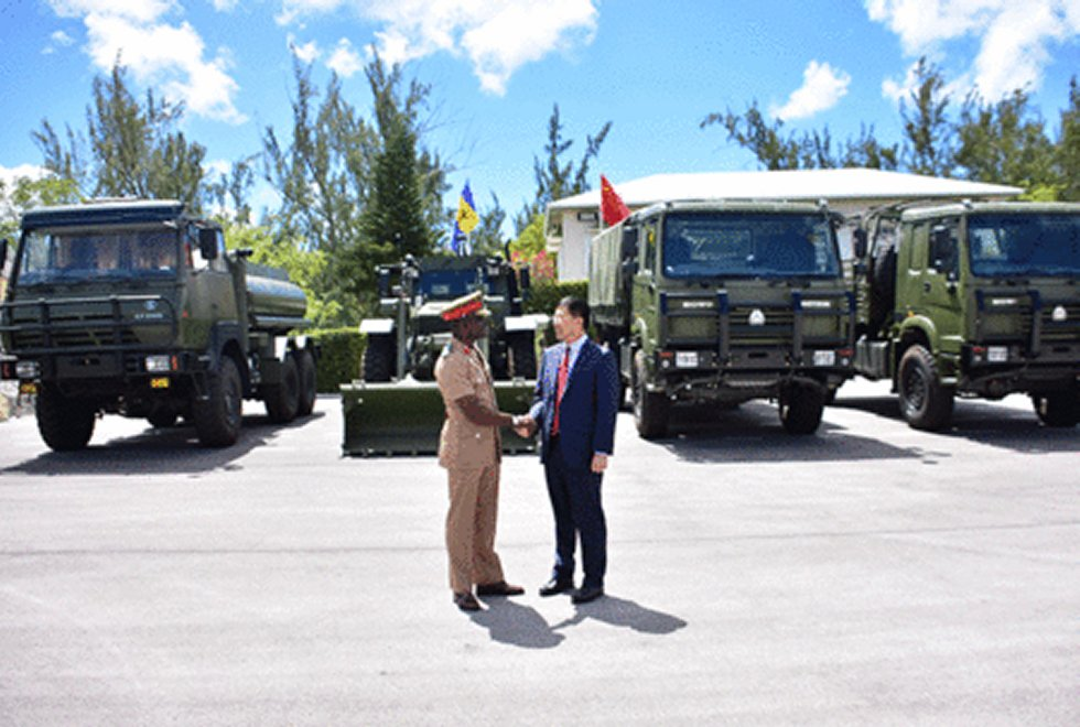 Barbados Defence Force receives equipment from China