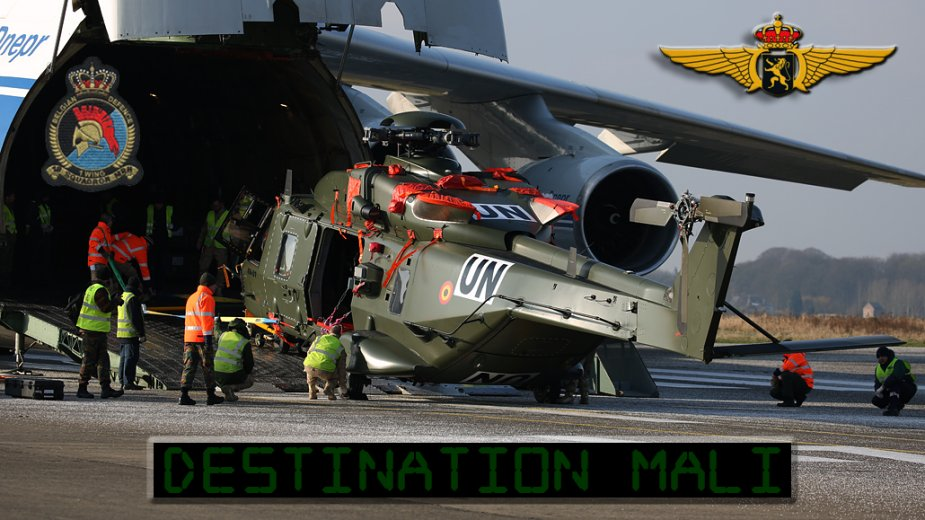 Belgian NH 90 Helicopters flown to Mali by An 124