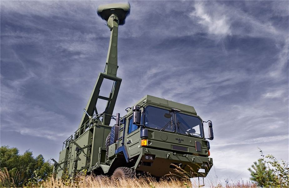 British army unveils its new Sky Sabre air defense missile system Giraffe Saab radar 905 001