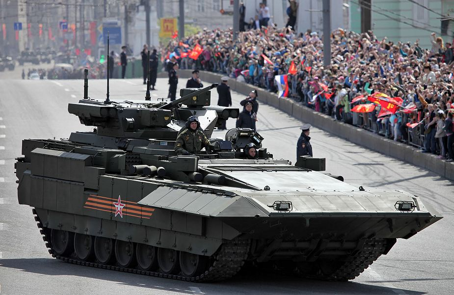 Russia Two battalions of T 14 Armata MBT tanks T 15 BMP IFV will enter in service 925 002