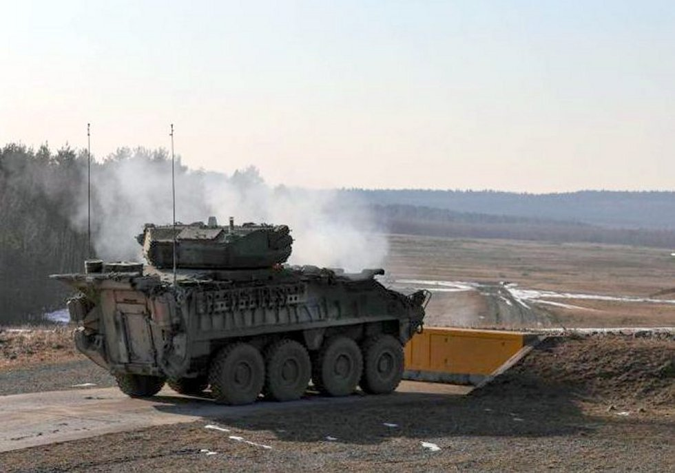 US army in Europe test fires with 30mm Stryker ICVs