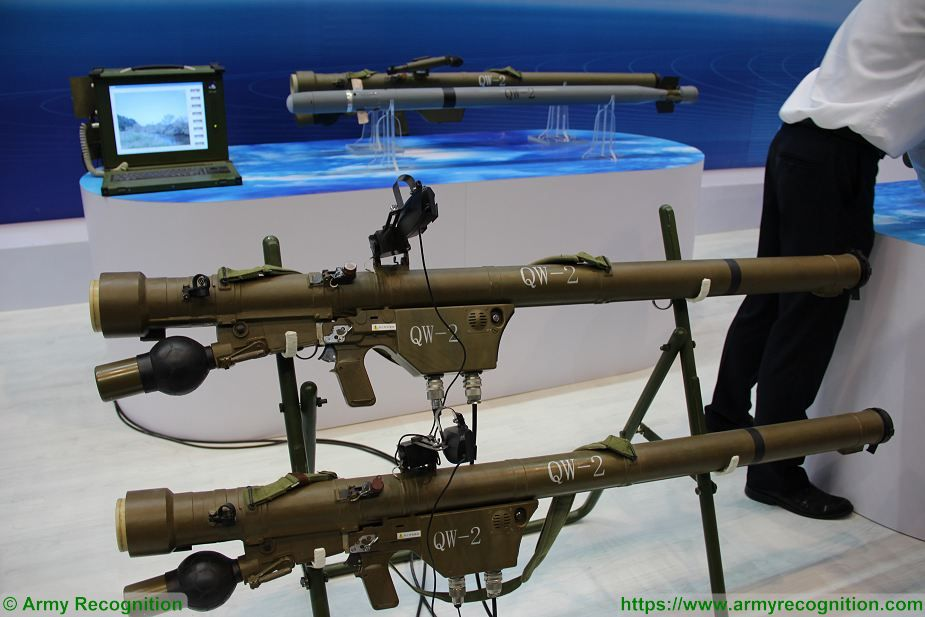 Chinese QW 2 MANPADS man portable air defense missile system in service with Turkmenistan army 925 002