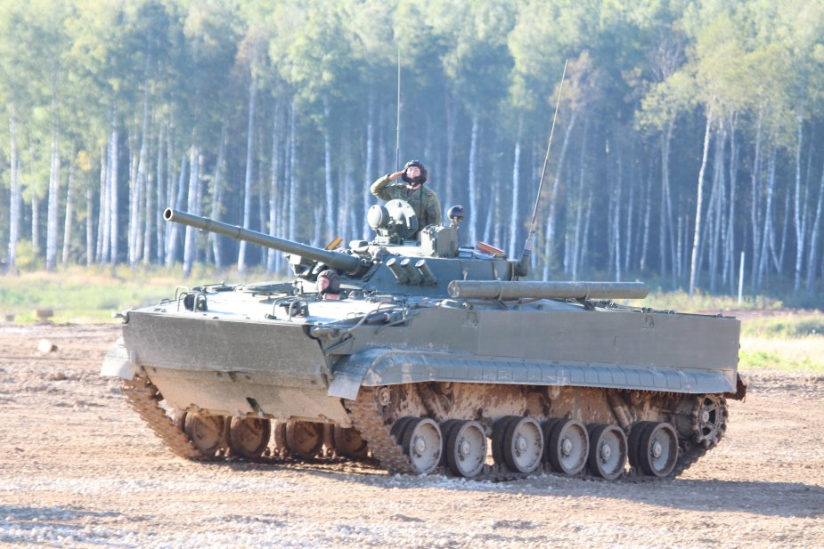 New AU 220M combat module for Russian BMP 3 IFV