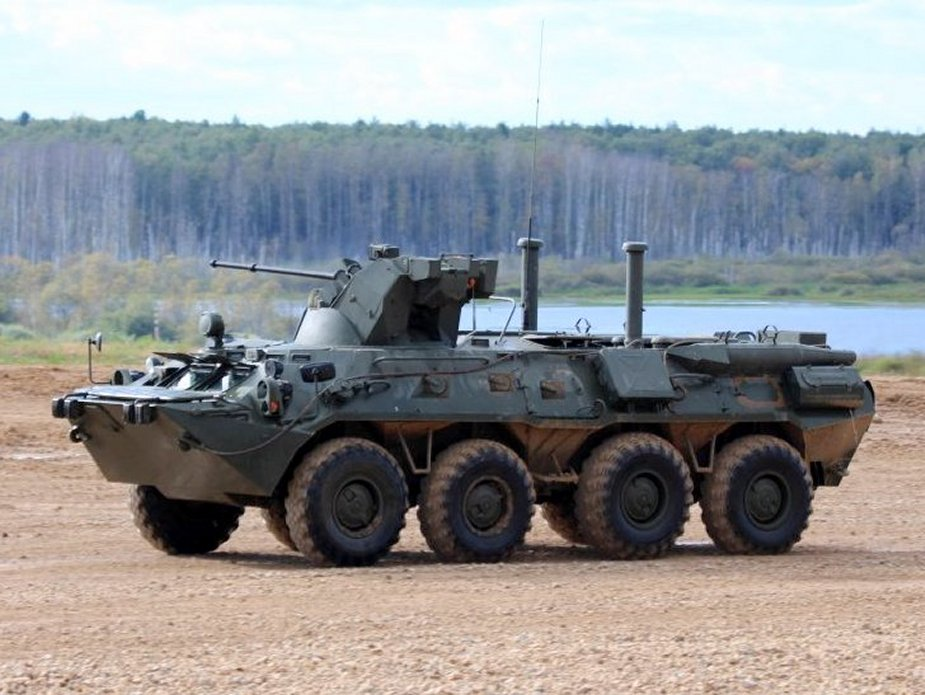 Russian Caspian Flotilla Marines receive BTR 82A armored personnel carriers