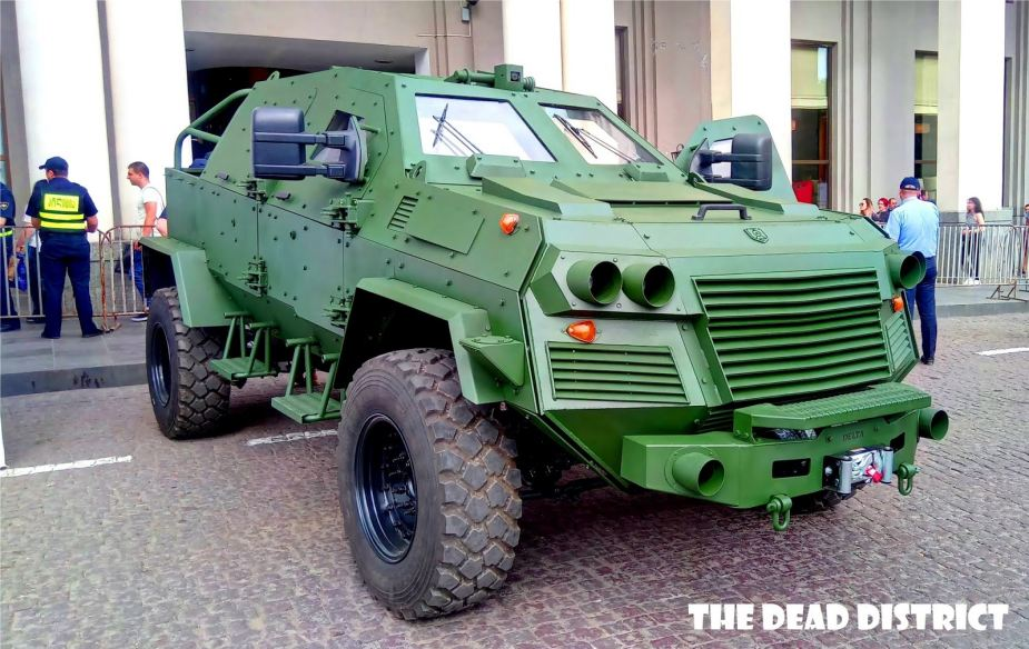 STC Delta from Georgia has developed new Didgori pickup 4x4 armored vehicle 925 001