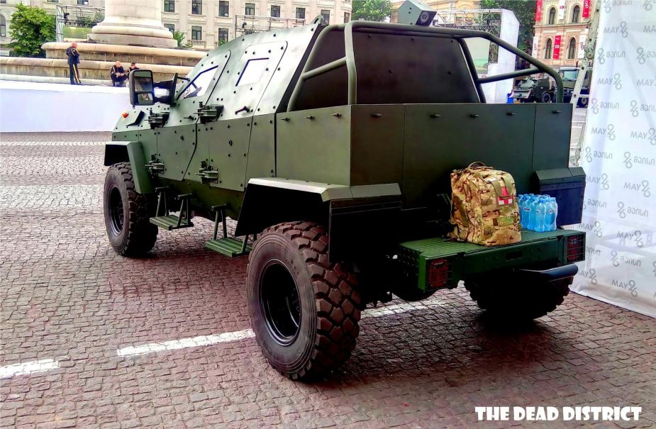 STC Delta from Georgia has developed new Didgori pickup 4x4 armored vehicle 925 002