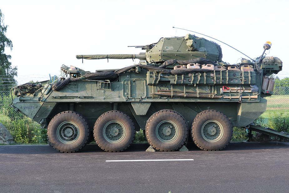 US soldiers demonstrate new armored Stryker Dragoon 30mm in Czech Republic 925 001