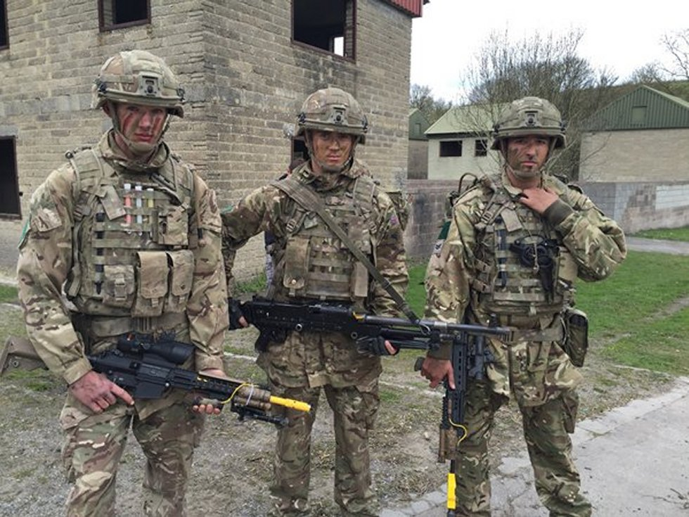 UK paras and tanks join forces