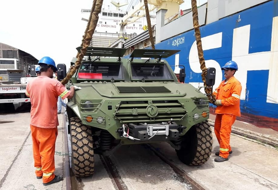 China donated military vehicles and equipment to Argentina
