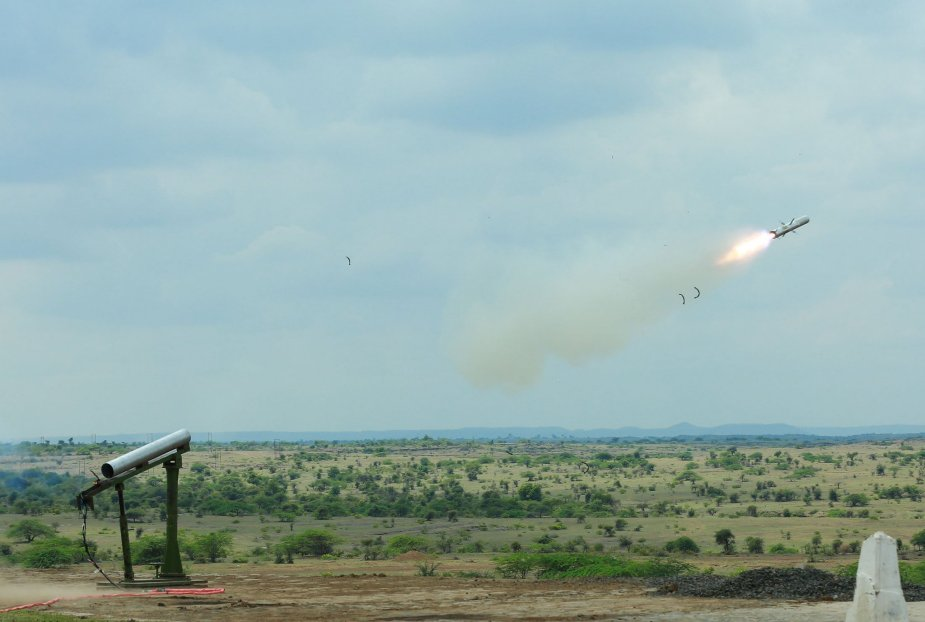 India successfully test firing new man portable anti tank guided missile 001