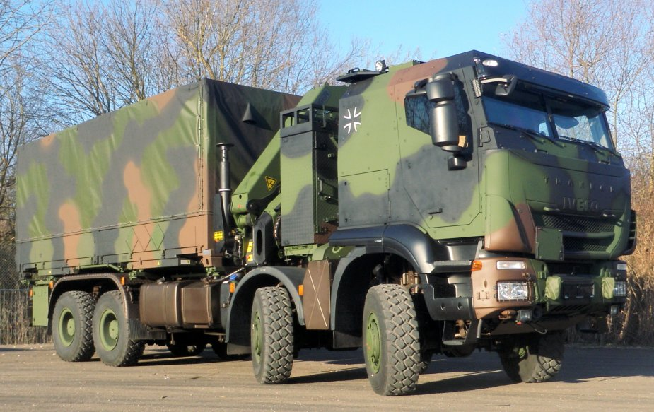 Iveco Defence Vehicles delivers the 100th Trakker GTF 8x8 to the Bundeswehr