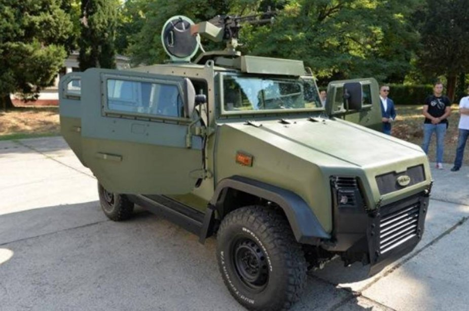 Montenegro indigenous armored vehicle Masan unveiled