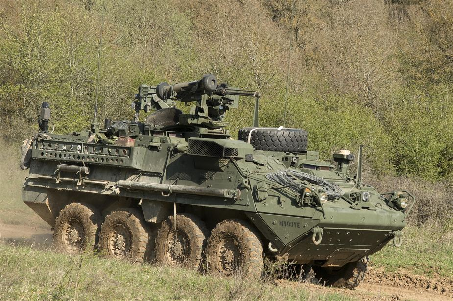 New Stryker armored with CROWS J Javelin missile turret for US troops in Europe 925 001