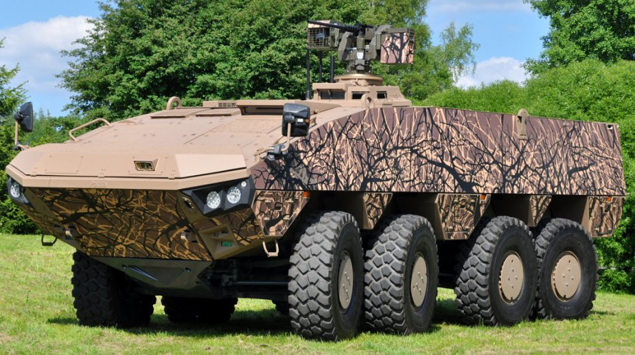 Patria AMV 8x8 participates to European Land Robot Trial in Mons Belgium
