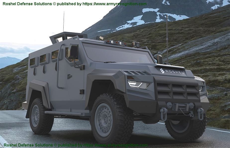 Roshel from Canada new Partisan 4x4 multi purpose armored personnel carrier 925 001