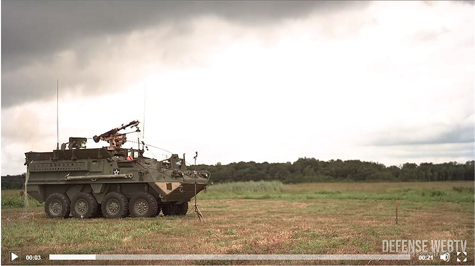 US troops in Europe have received Stryker 8x8 armored with CROWS J Javelin missile 925 video image 925 002