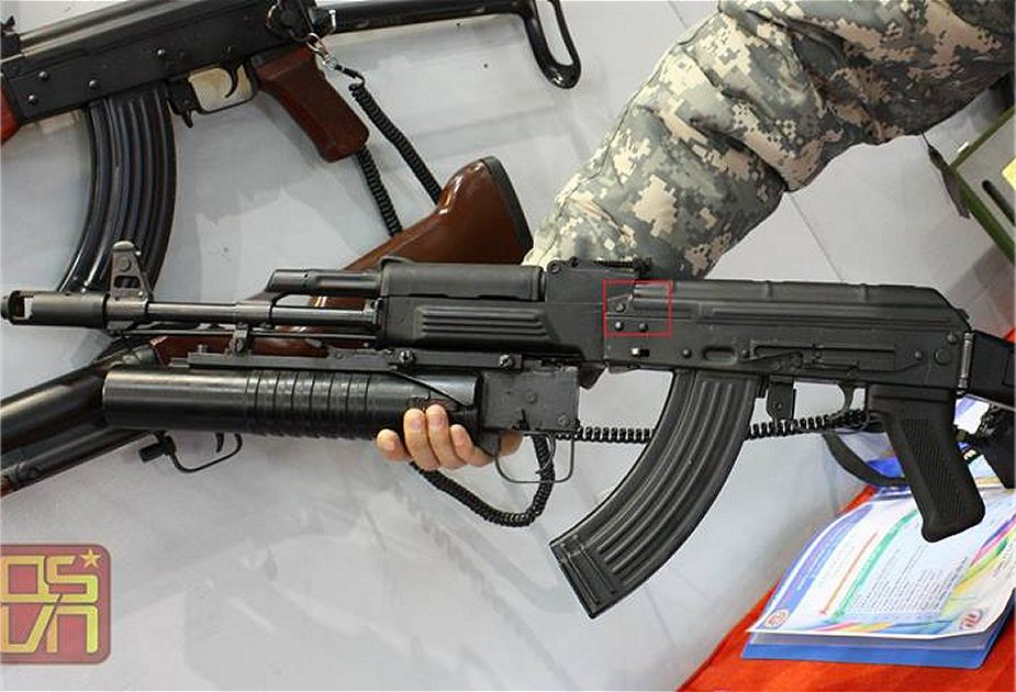 Viertnam has upgraded Kalashnikov AKM under the name STL 1A assault rifle 925 001