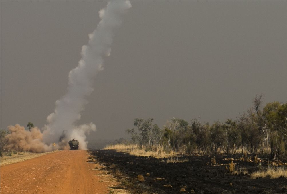 Live firing exercice with HIMARS rocket launchers of U.S. Marines in Australia 925 001