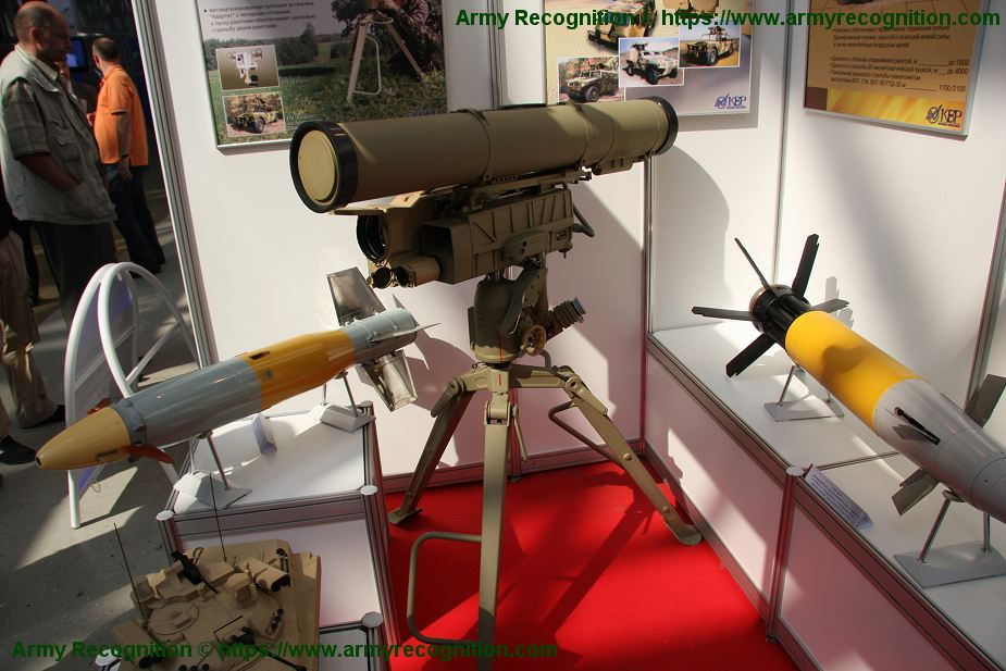 New 9M133F 1 Russian anti tank missile with thermobaric high explosive warhead 925 001