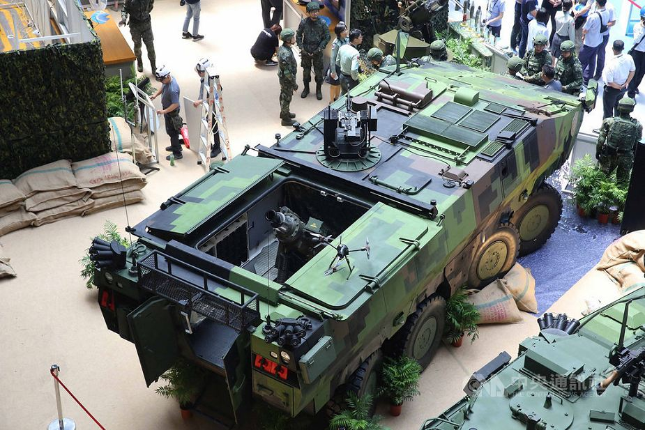 Taiwan unveils new mortar carrier based on CM 32 8x8 armored vehicle 925 001