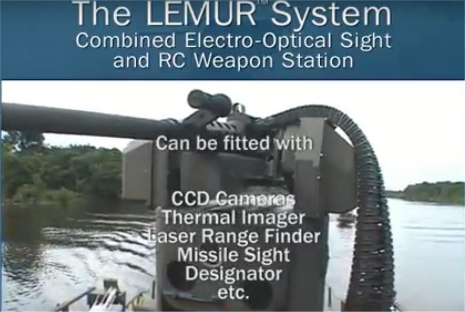 Bofoirs LEMUR BAE Systems Naval RWS Remote Weapon Station UK British defense industry 925 001