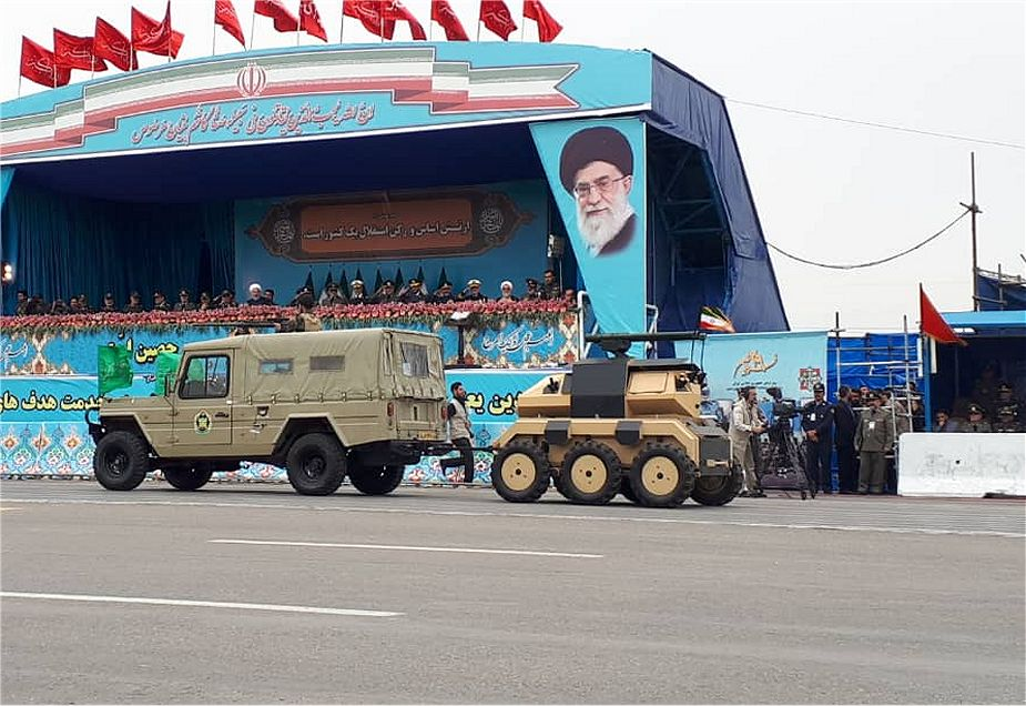 New Iranian-made 6x6 UGV Unmanned Ground Vehicle unveiled