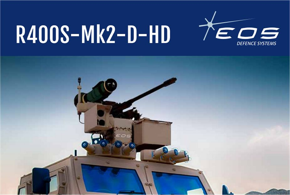 R400 EOS RWS Remote Weapon Station Australia Australian defense industry 925 001