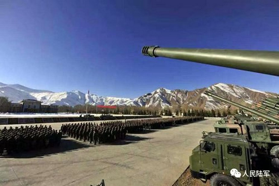 Chinese self propelled howitzers in Tibet bear different designation