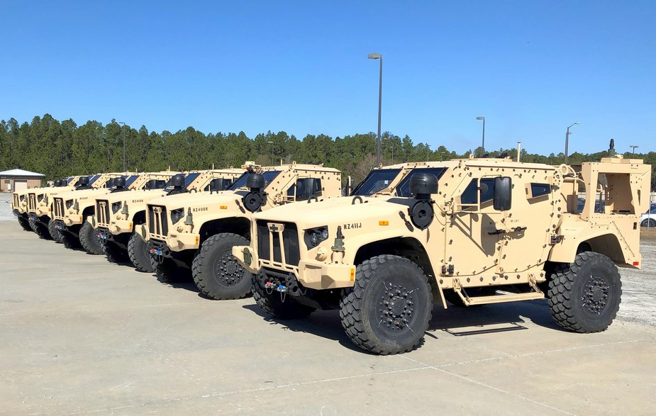 First JLTVs delivered to U.S. Army at Fort Stewart